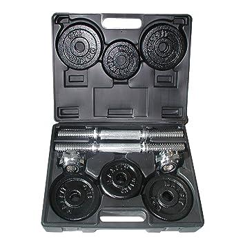 Toorx Kit de Pesas 15 Kg. (2 Barras + Discos 8X1Kg + 4X0,75Kg) Gris: Amazon.es: Deportes y aire libre