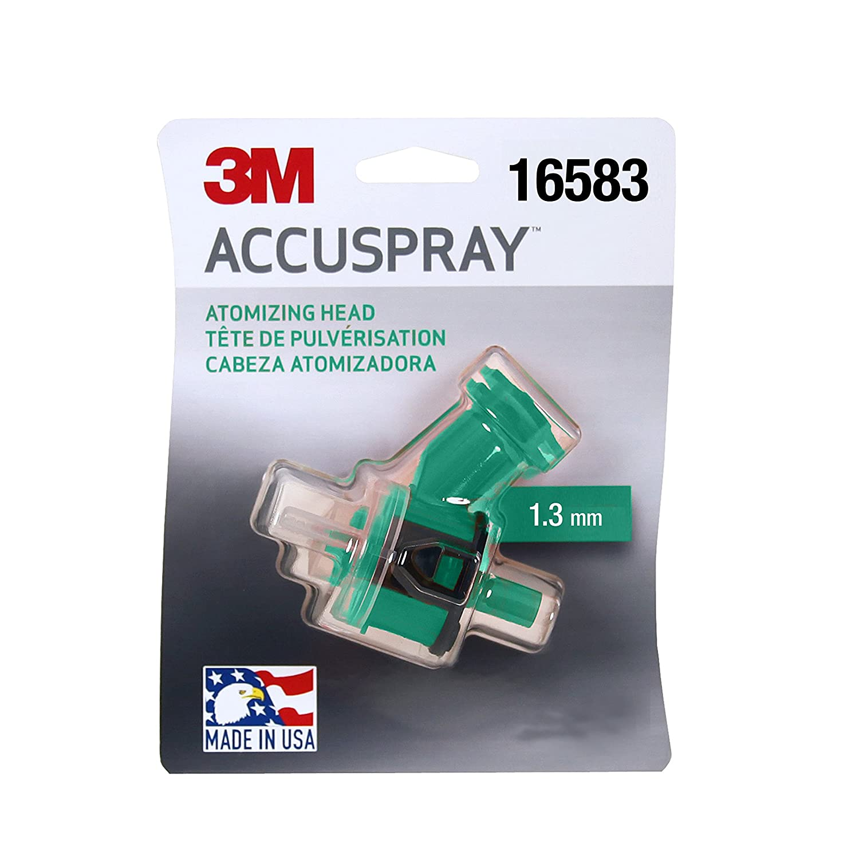 3M(TM) Accuspray(TM) Atomizing Head, 16583, Green, 1.3 mm, 1 atomizing heads per each