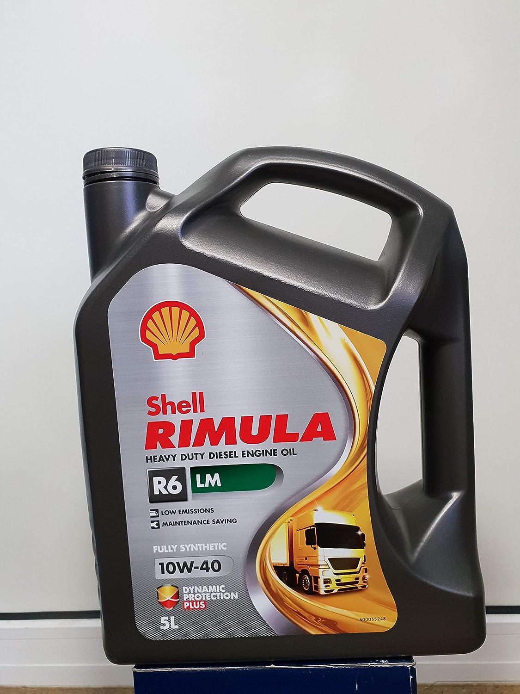 Aceite Shell Rimula R6, LM, 10W-40, 5 Litros: Amazon.es ...