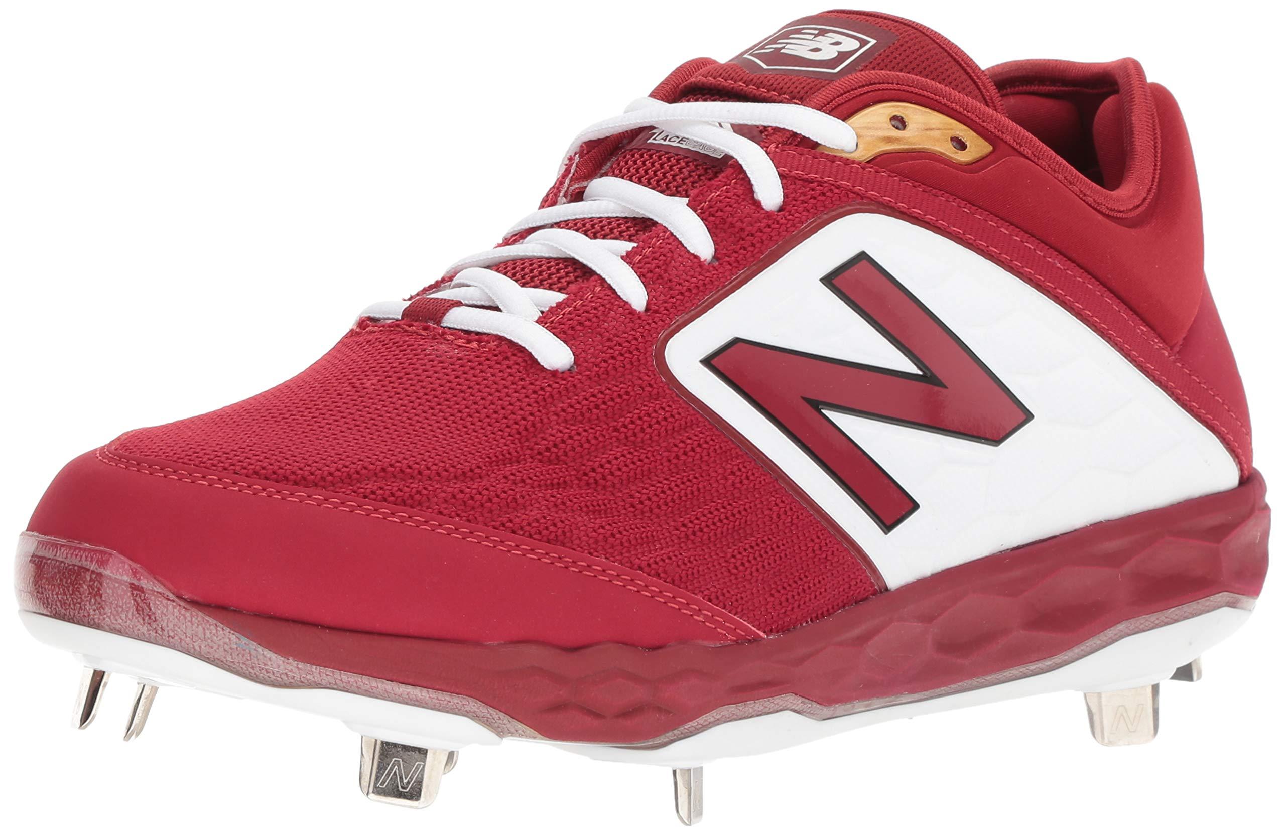 New Balance Men's 3000v4 Baseball Shoe, Team Crimson, 5 D US