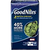 GoodNites Bedtime Bedwetting Underwear for Boys, S-M, 14 Ct. (Packaging May Vary)