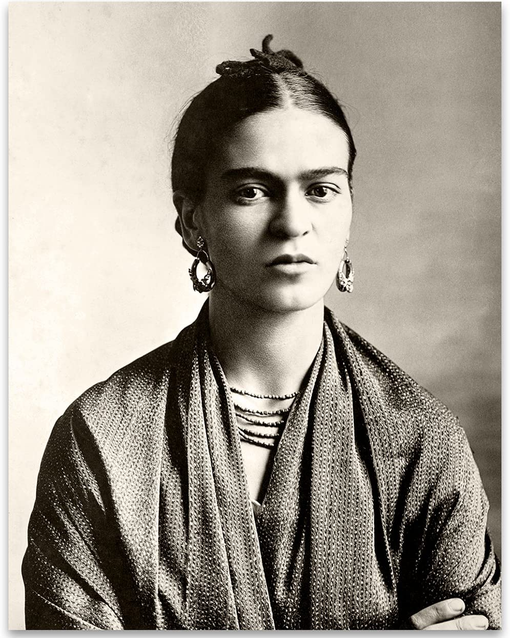 Frida Kahlo Wrap Photo - 11x14 Unframed Print - Perfect Vintage House Decor Under $15