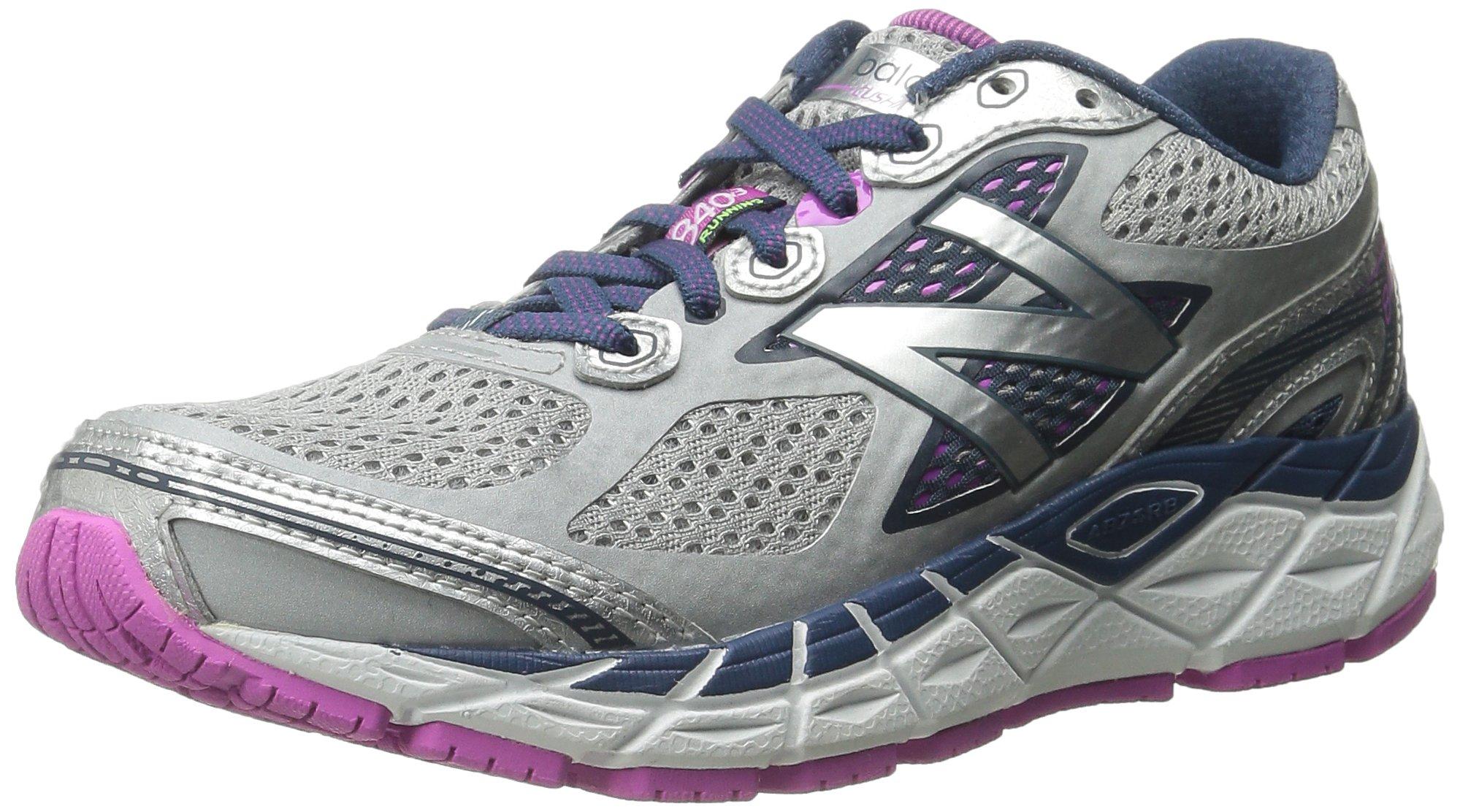 New Balance Women's W840V3 Running Shoe,Silver/Navy,9.5 B US