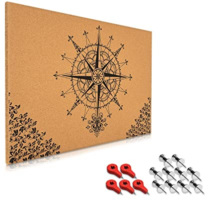 Kork Pinwand Memoboard Tafel 70x50cm Pin Board Korkwand mit Holz Rahmen
