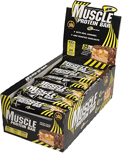 All Stars Muscle Protein Bar Crunchy Caramel-Hazelnut - 24 Barras