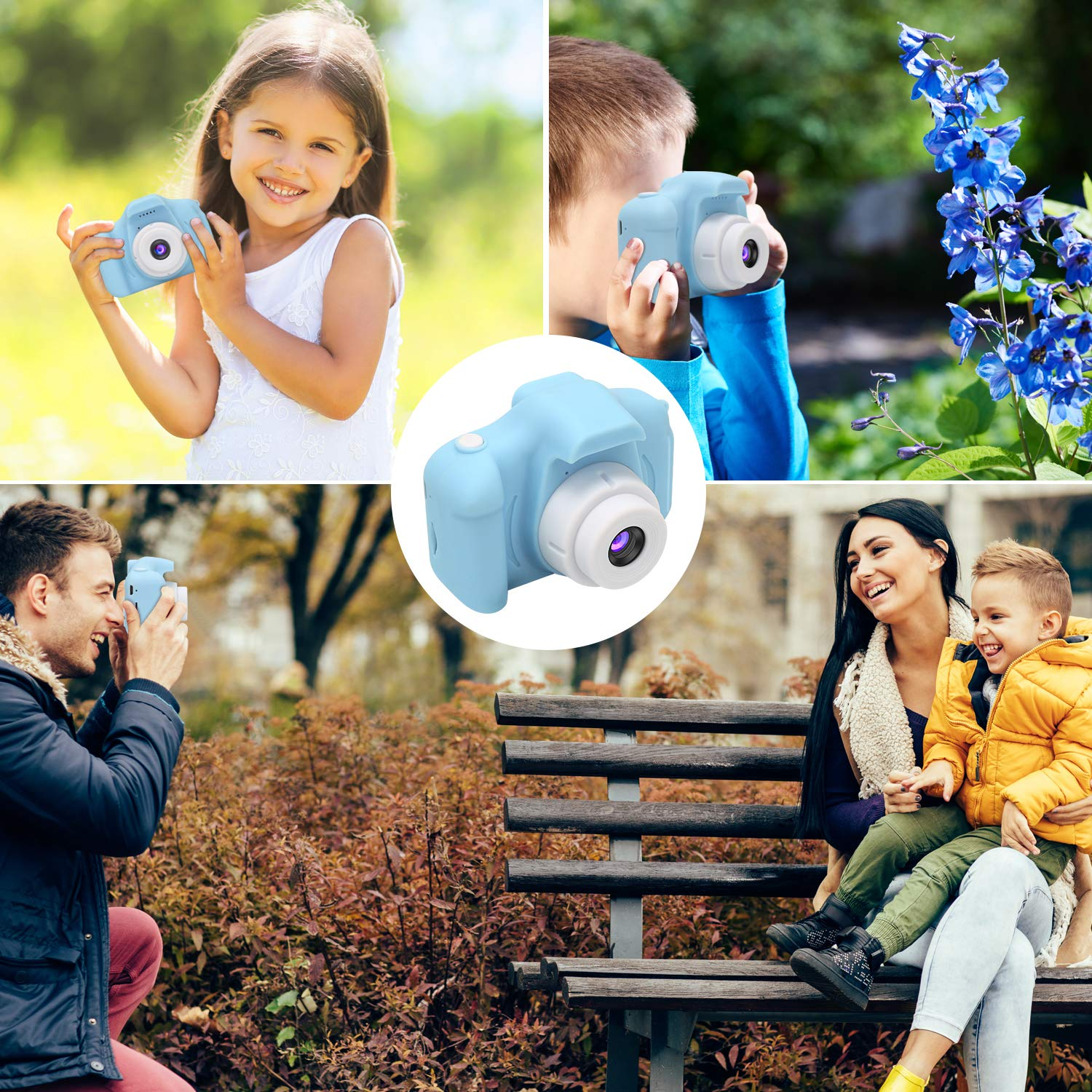 DDGG Kids Digital Camera Toy Camera HD Kids Video Cameras Shockproof Cameras with Soft Silicone Shell Gift for 4-10 Years Old Girls Boys Party Outdoor Play (16G SD Card Included) by DDGG (Image #8)