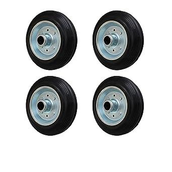 4 pcs 100 mm neumático sólido rueda para ruedas de transporte ruedas giratorias Transportgeräterad