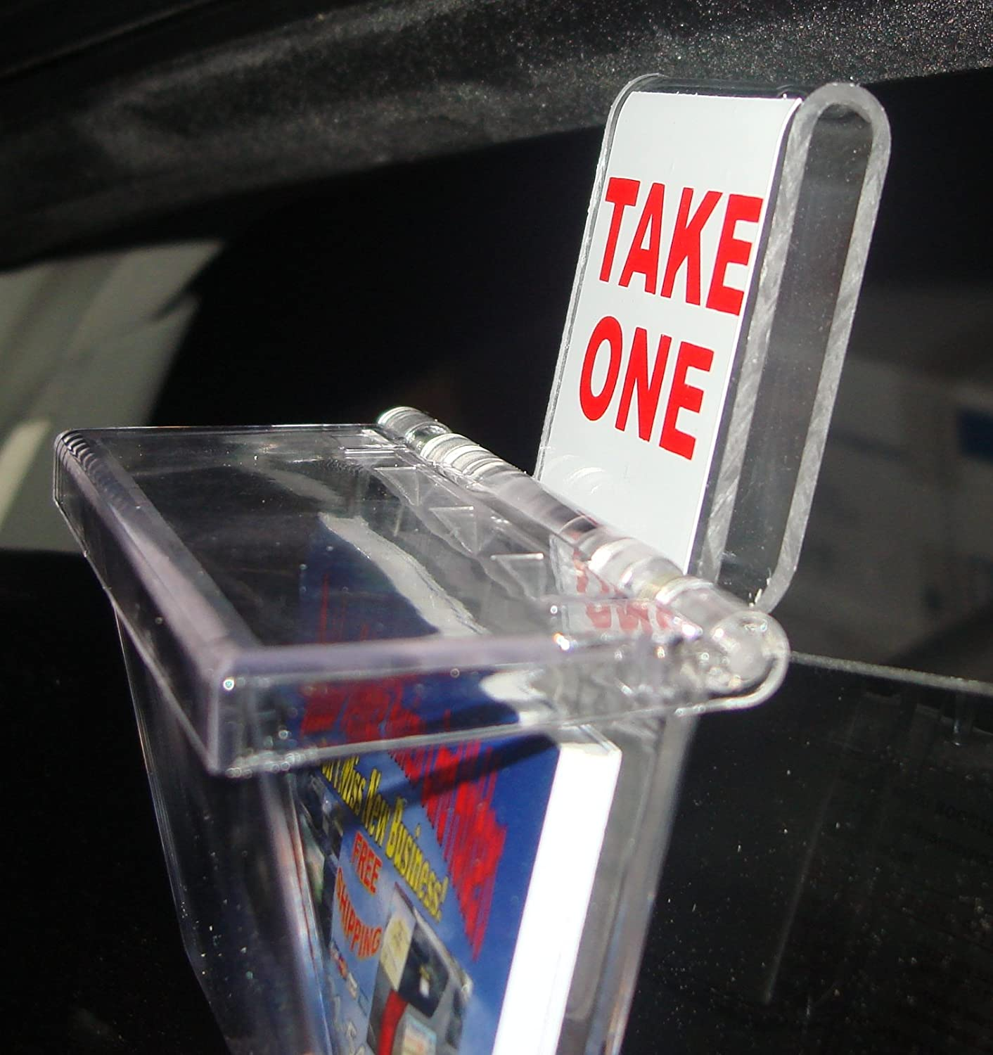 outdoor business card holder clear lid with vehicle window hook