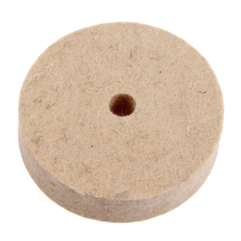 1/7,6/cm Zoll rund Polieren Rad Filz Wolle Polieren Polishers Pad Puffer f/ür Holz Metall Polieren Langlebig