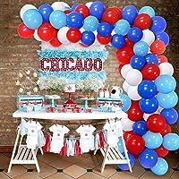 SPECOOL Globos Blancos y Azules Rojos Azul Claro