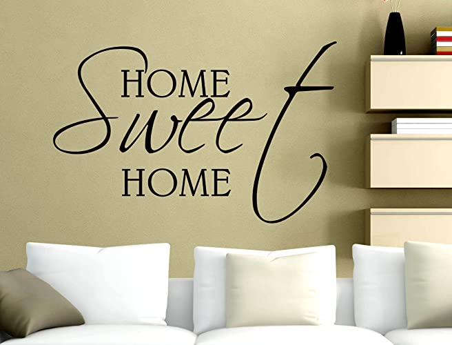 Stickers Murali Frasi.Adesivi Murali Frasi Home Sweet Home 120 X 80 Cm Wall