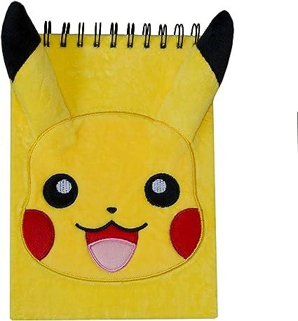 Pokémon - Cuaderno de felpa A5 Pikachu | Encuadernado | Tapa dura ...