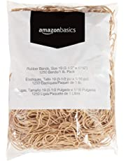 AmazonBasics Rubber Bands, Size 19 (3-1/2 x 1/16 Inch), 1250 Bands/1 lb. Pack, 3-Pack
