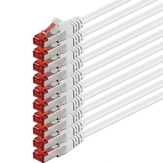 30 opinioni per 3m- bianco- 10 pezzi- Rete Cavi Cat6 | S-FTP | CAT 6 | doppia schermatura | PIMF