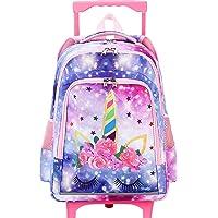 CAMTOP Rolling Backpack Girls Roller Bag with Wheels Kids School Bags Wheeled Backpack