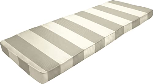 Amazon Custom Furnishings x Easy Way Products 20772 Custom Zipped Double Piped Bench Cushion