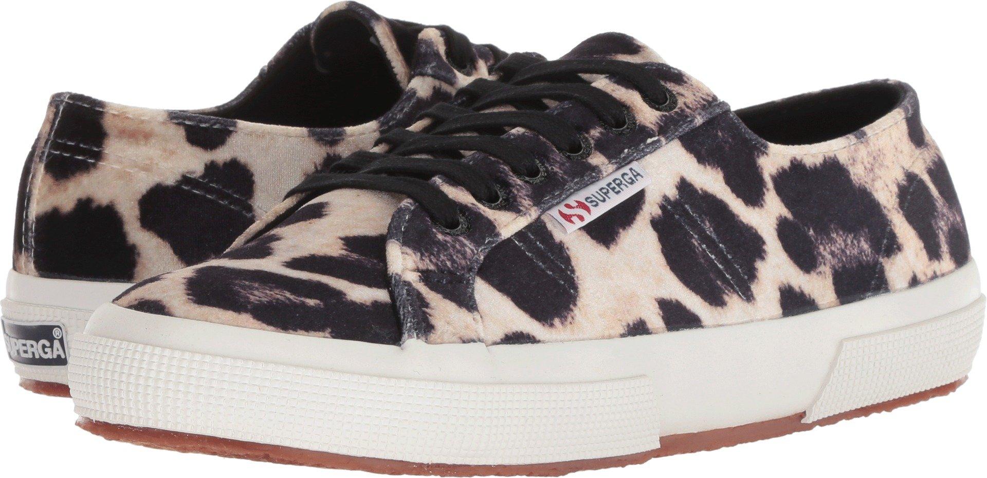 Superga Women's 2750 Fanvelw Sneaker, Leopard, 39 M US