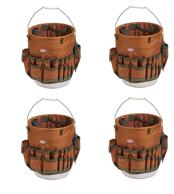 Bucket Boss The Bucketeer Bucket Tool Organizer in Brown, 10030 (Pack of 4)