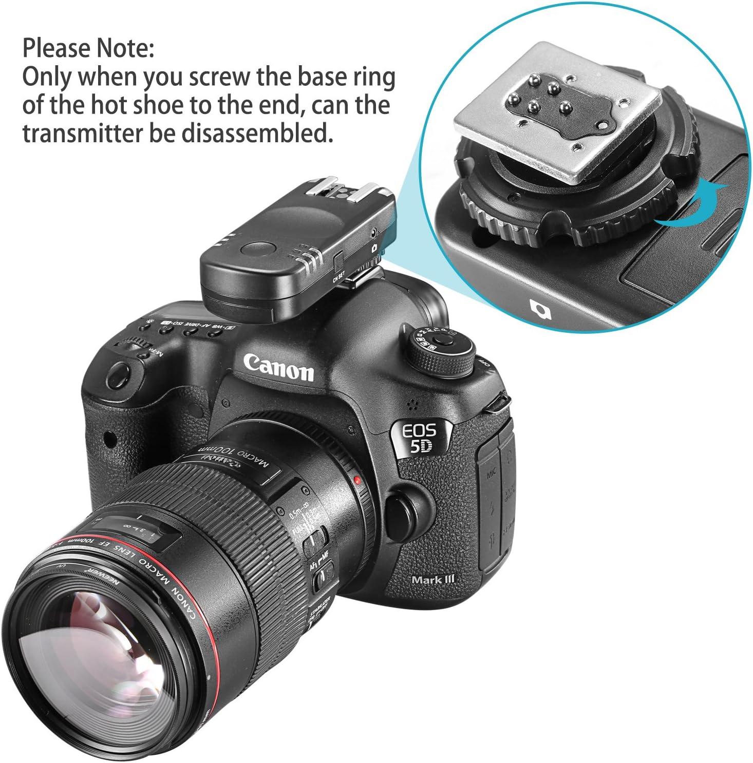 Neewer 2,4 G Flash Trigger Receptor inalámbrico Remoto para ...