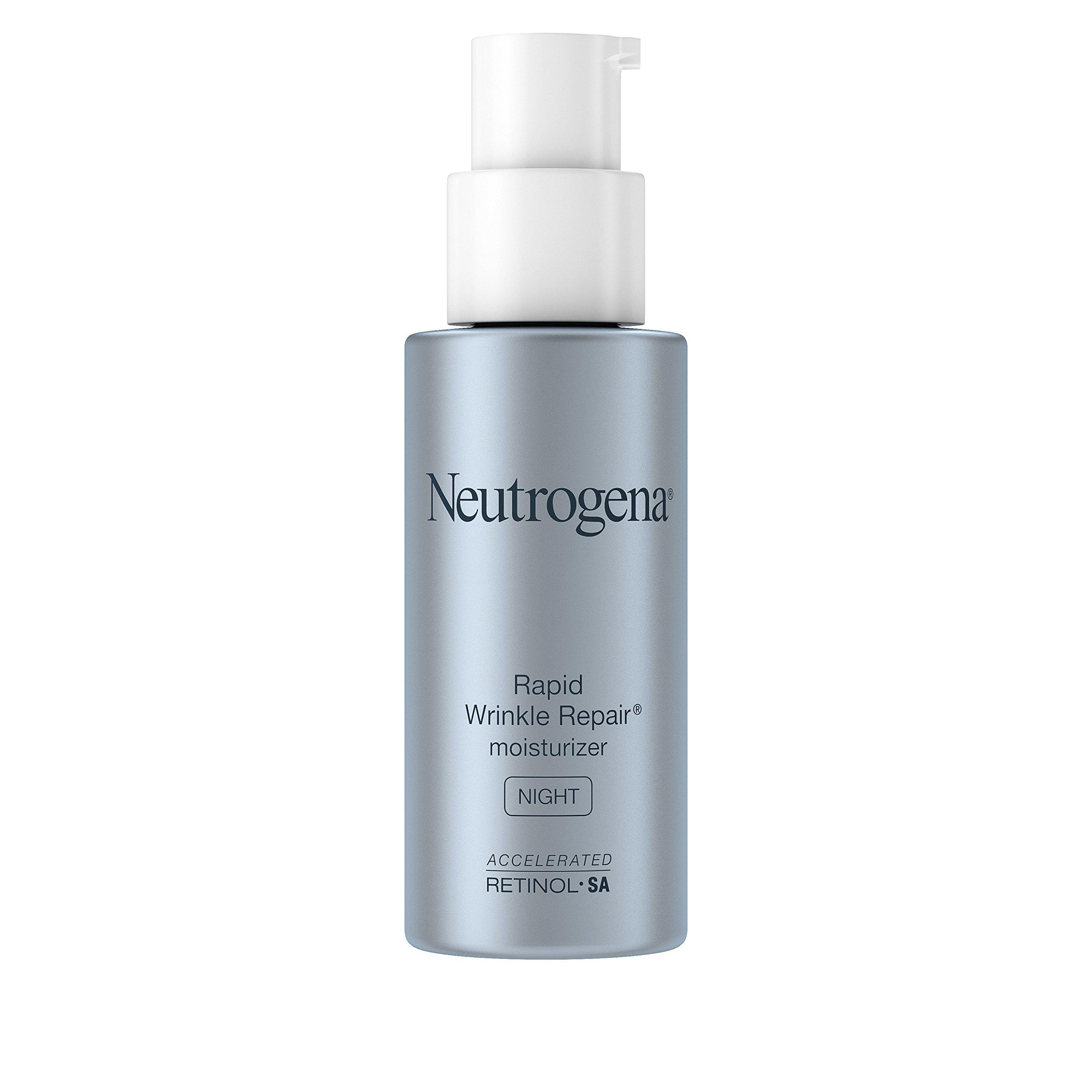 Neutrogena Rapid Wrinkle Repair Accelerated Hyaluronic Acid Retinol Night Cream Face Moisturizer, Anti Wrinkle Face Cream & Neck Cream with Hyaluronic Acid, Retinol & Glycerin, 1 fl. oz by Neutrogena