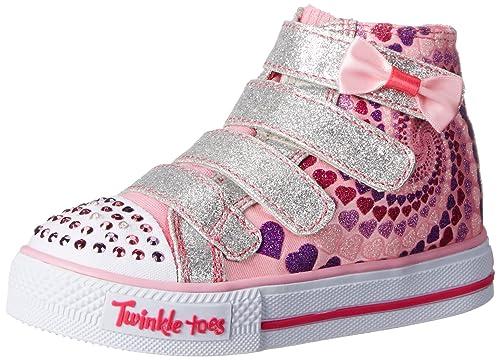 Skechers Kids Twinkle Toes Shuffles Lil Skippers Light Up