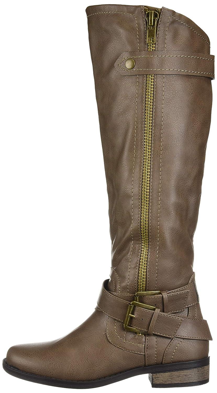 Rampage Frauen Geschlossener Zeh Fashion Stiefel Stiefel Stiefel Taupe Smooth f128a0