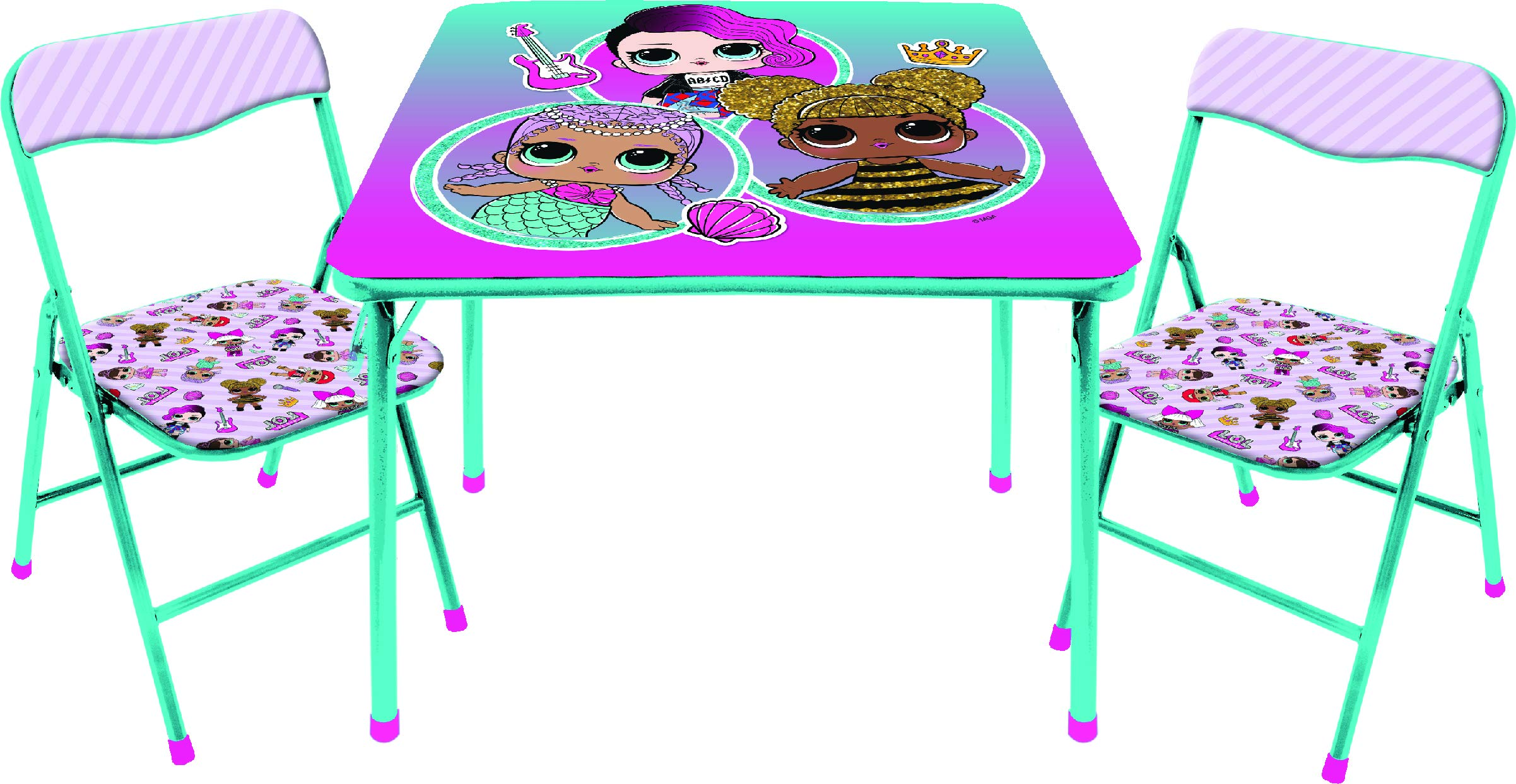 LOL Surprise 3 Pc Table & Chair Set, Multicolor by L.O.L. Surprise!