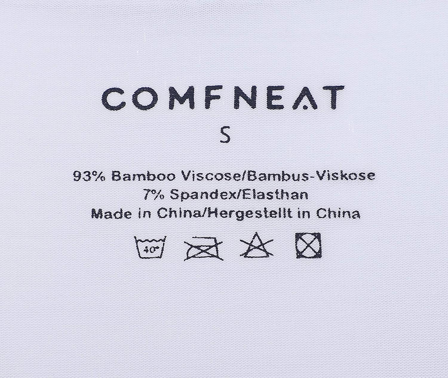Comfneat Mens 5-Pack Bamboo Rayon Briefs Ultra Soft Comfy Underwear