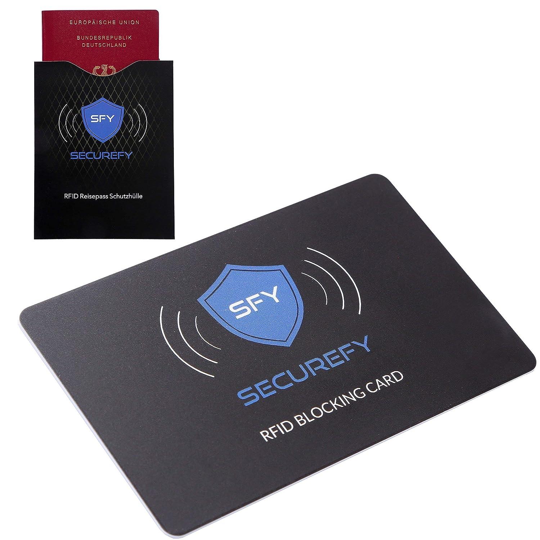 Une seule carte de protection prot/ège tout votre portefeuille de la RFID 13.56Mhz vol de donn/ées NFC SECUREFY/® Carte bloquante RFID Etui de protection RFID gratuit