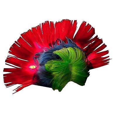 Flashing Panda WeGlow International Light Up Rainbow Mohawk Wig: Toys & Games