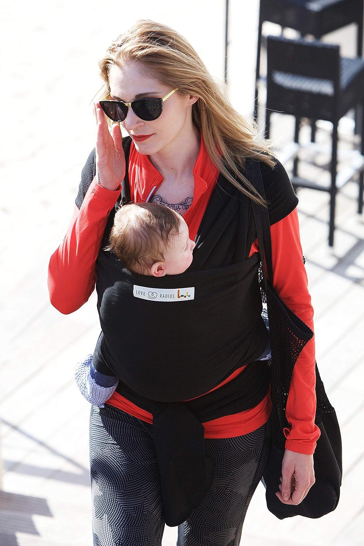 Je Porte Mon B/éb/é Basic Baby Sling Almost Black
