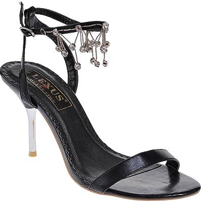 Damen Sandalen, Schwarz - schwarz - Größe: 36 Lexus