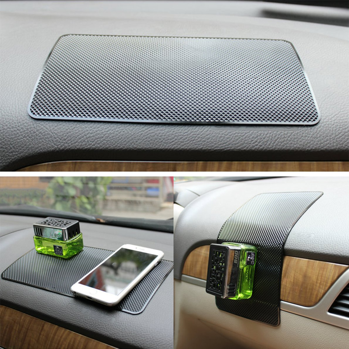 SHUYIT Anti-slip Car Dash Sticky Pad Keys 27 x 15 cm Non-slip Mat Silicone Car Dashboard Sticky Pad Anti Slip Mat Adhesive Pad for Mobile Phones Electronic Devices Glasses