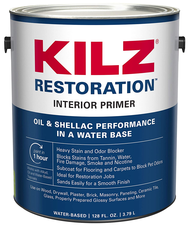 KILZ Restoration Maximum Stain and Odor Blocking Interior Latex  Primer/Sealer, White, 1-gallon