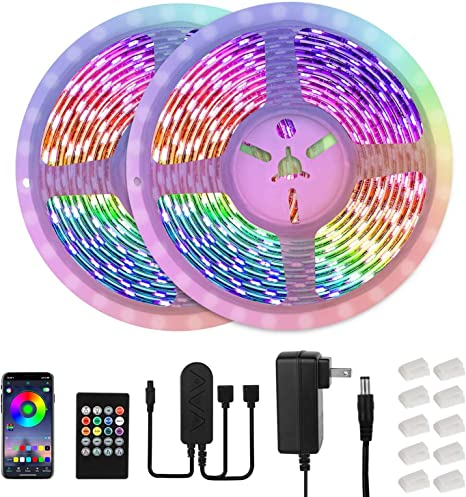 50FT Music Sync LED Strip Lights with APP and Remote Control,RGB Color Changing Light Strips for Bedroom,Room,Party and Home Decoration