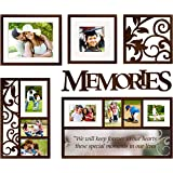 Jerry & Maggie - Photo Frame | Plaque | Mirrored College Frame - Wall Decoration Combination - Black PVC Picture Frame Selfie Gallery Collage With Full Size Hanging Template & Wall Mounting Design
