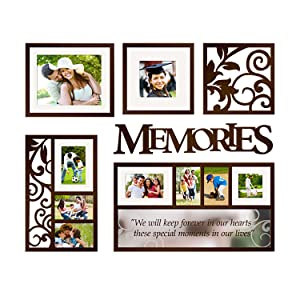 Hello Laura - Photo Frame Memory Theme Wall Hanging Picture Frame Gallery Collection Complete Set Decor Accessories Plaque for School Graduation Birthday Gift Family