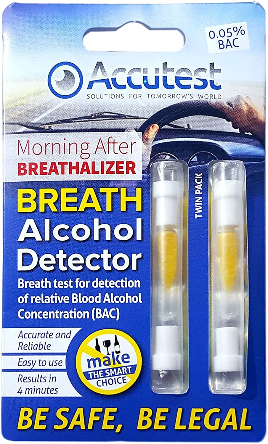 Twin Pack of Breathalyzer Test Kits for France Germany with European Wide UK