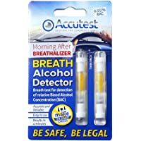 Accutest Alcohol Disposable Breathalyzer x 2 - Breath Tester Kit - EU France Certified Test Breathaliser Kits
