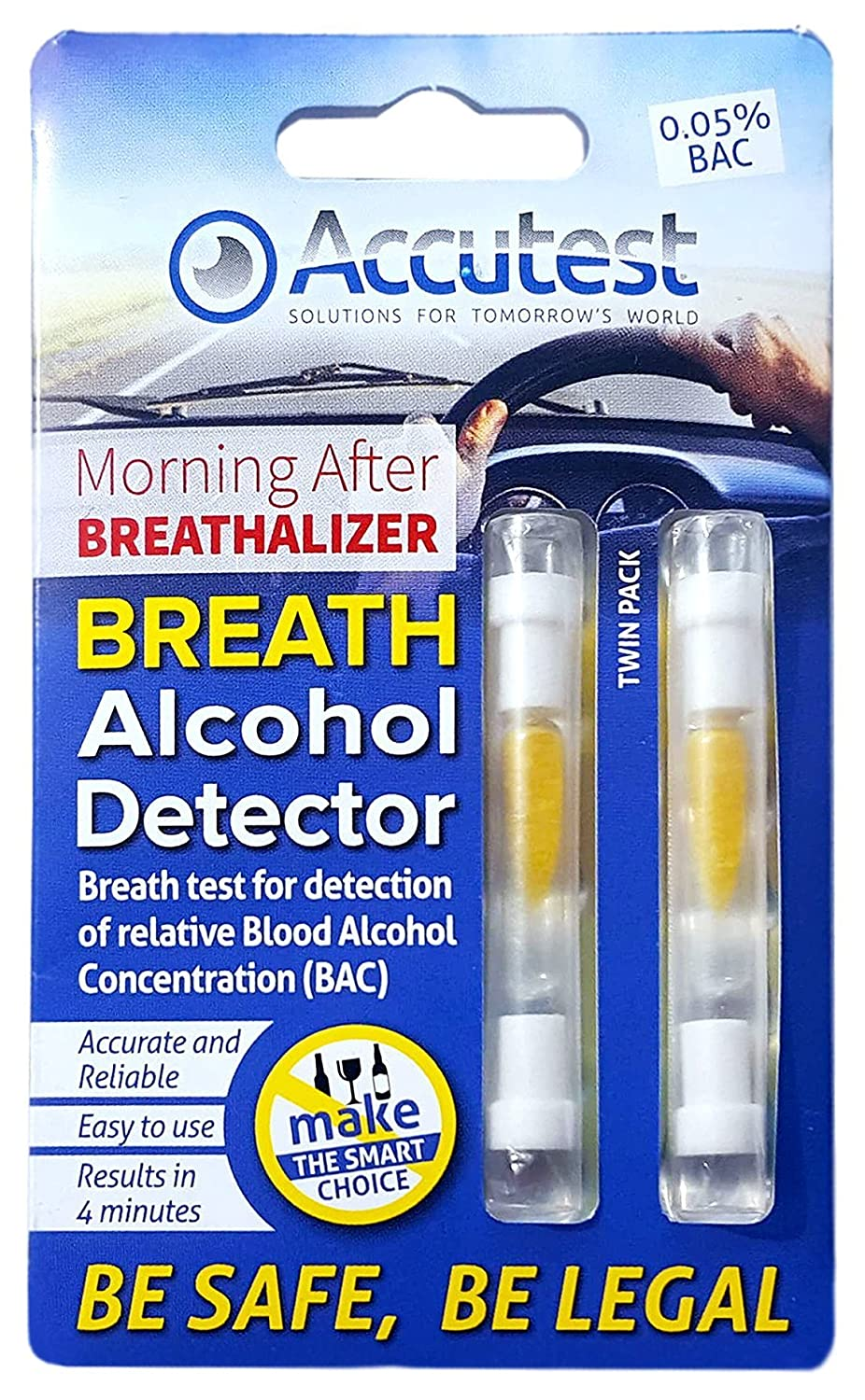 2 x Alcohol Breathalyzer Breath Tester Kit EU France Certified Test Kits for