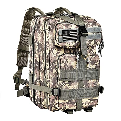 Image Unavailable. Image not available for. Color  CVLIFE Outdoor Tactical  Backpack Military Rucksacks ... f8eebfc3eccd2