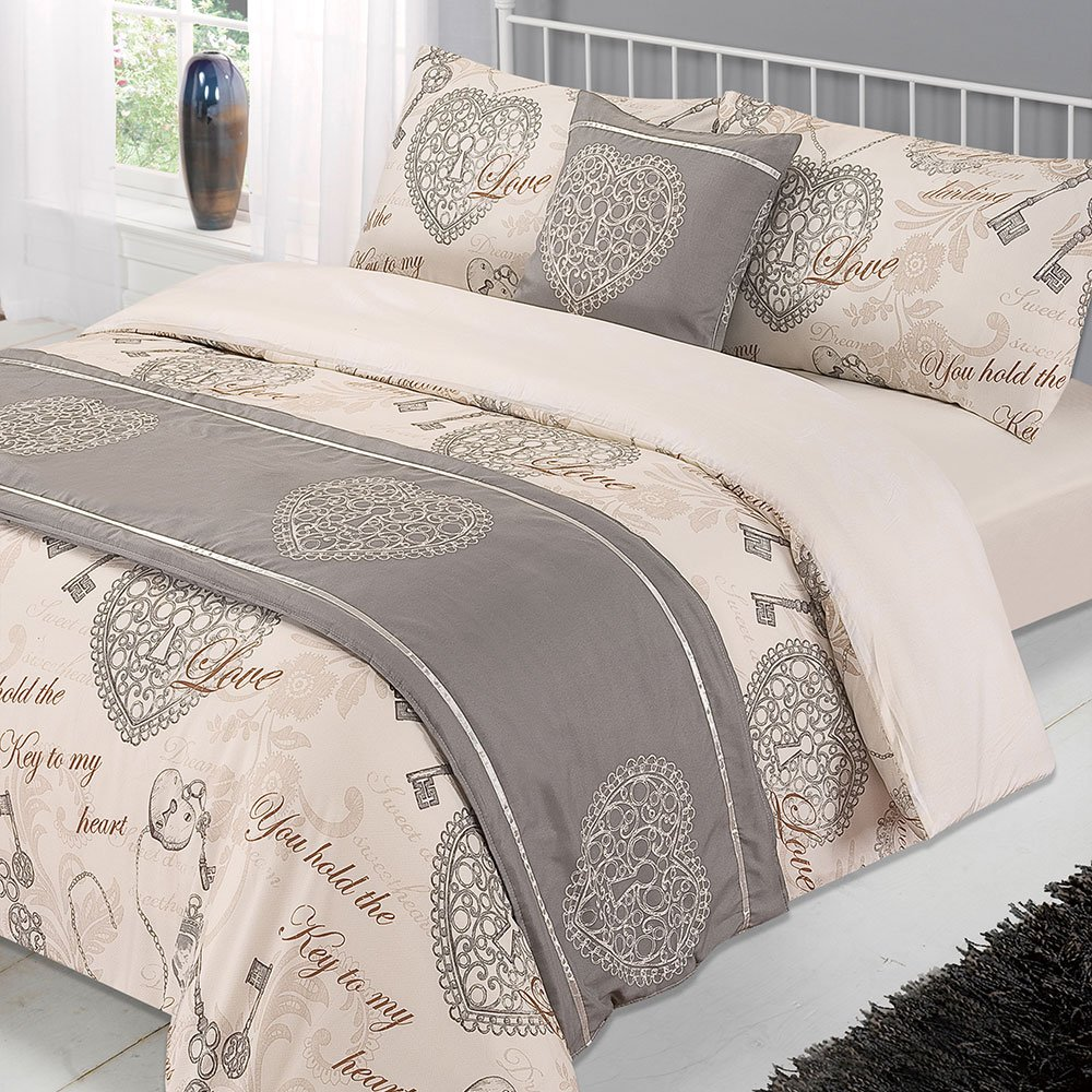 Natural /Antoinette cama en una bolsa conjunto completo con fundas de almohada Set con fundas de almohada super-King Dreamscene/