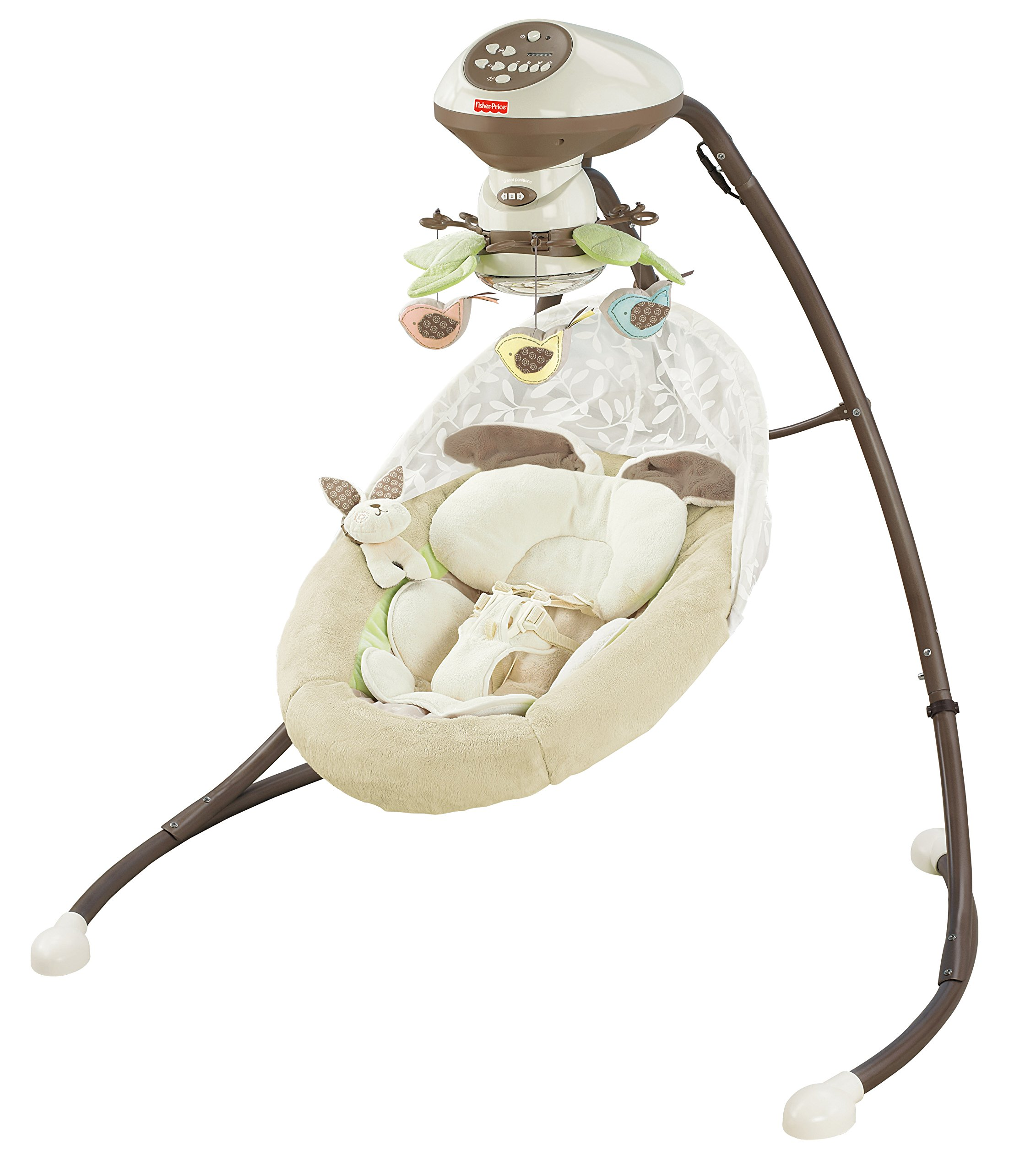 Fisher-Price Snugabunny Cradle 'n Swing with Smart Swing Technology by Fisher-Price (Image #10)