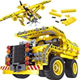 Gili STEM Building Toy for Boys 8-12 - Dump Truck or Airplane 2 in 1 Construction Engineering Kit (361pcs) Best Gift for Kids