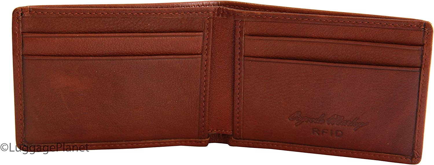 Black Cashmere Mens Billfold Wallet with Coin Purse Color