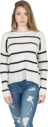 Velvet by Graham & Spencer Women's Cashmere Blend Stripe