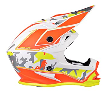Lazer MZE600050AY0M Lzr Or1 Urban Camo Casco Integral Mx, Rojo/Blanco/Amarillo,