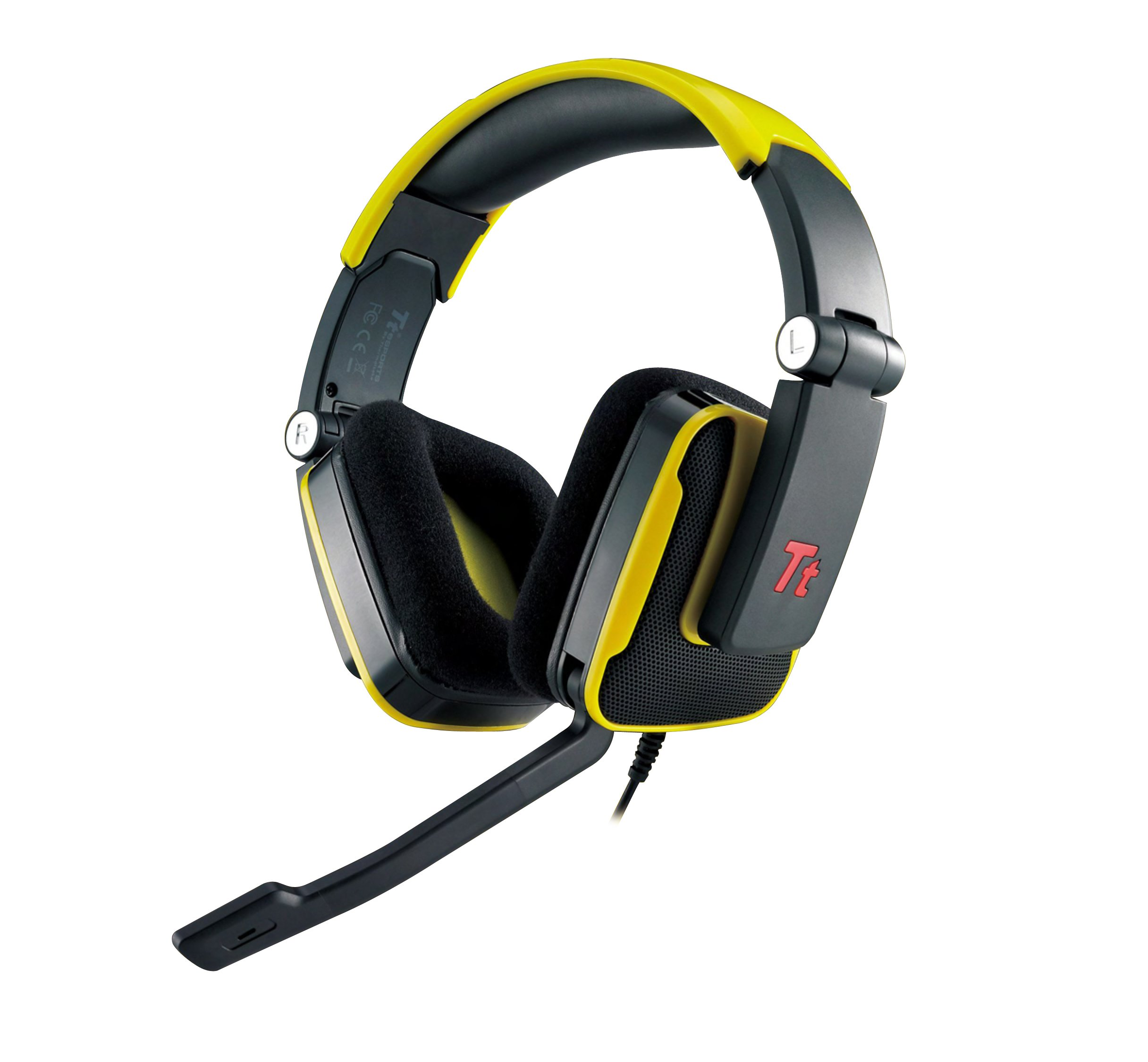 Tt eSPORTS HT-SHK002ECYE Thermaltake SHOCK Gaming Headset,..