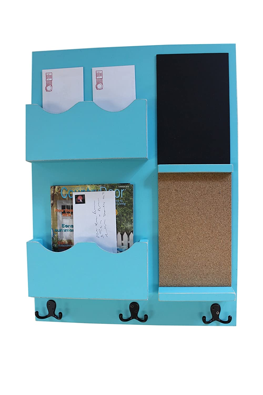 Amazon.com: Legacy Studio Decor Mail Organizer Cork Board Chalkboard ...