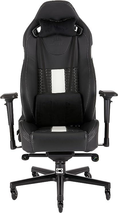 Corsair CF-9010007 WW T2 Road Warrior Gaming Chair Comfort Design Black//White